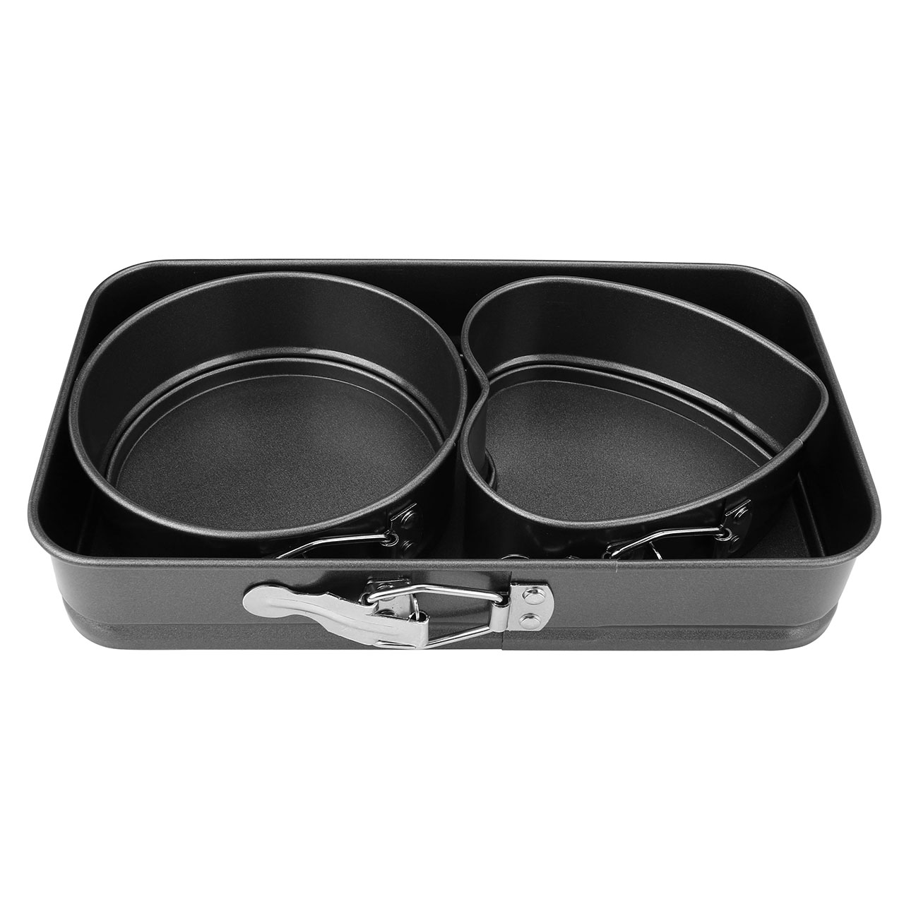 ACBungji 3pcs Non-Stick Springform Pan/Cheesecake Pan/Leakproof Cake Pan Bakeware Set (Mini)