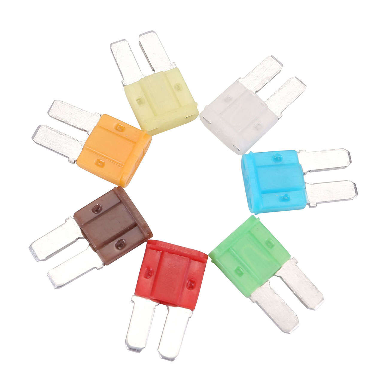 ACBungji Auto Car 5A 7.5A 10A 15A 20A 25A 30A ATO ATC Micro II 2 Blade Fuse Assortment 35 Pieces