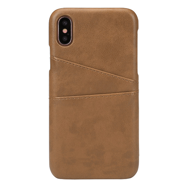 ACBungji iPhone X Leather Card Case Cover PU Leather Wallet Card Cash Solt Holder Protective Case for iPhone 10(Brown)