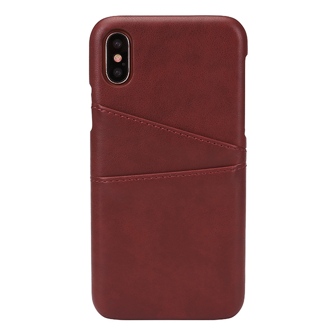 ACBungji iPhone X Leather Card Case Cover PU Leather Wallet Card Cash Solt Holder Protective Case for iPhone 10 (Red)