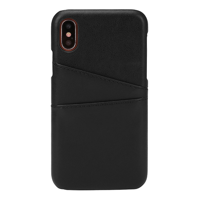 ACBungji iPhone X Leather Card Case Cover PU Leather Wallet Card Cash Solt Holder Protective Case for iPhone 10 (Black)