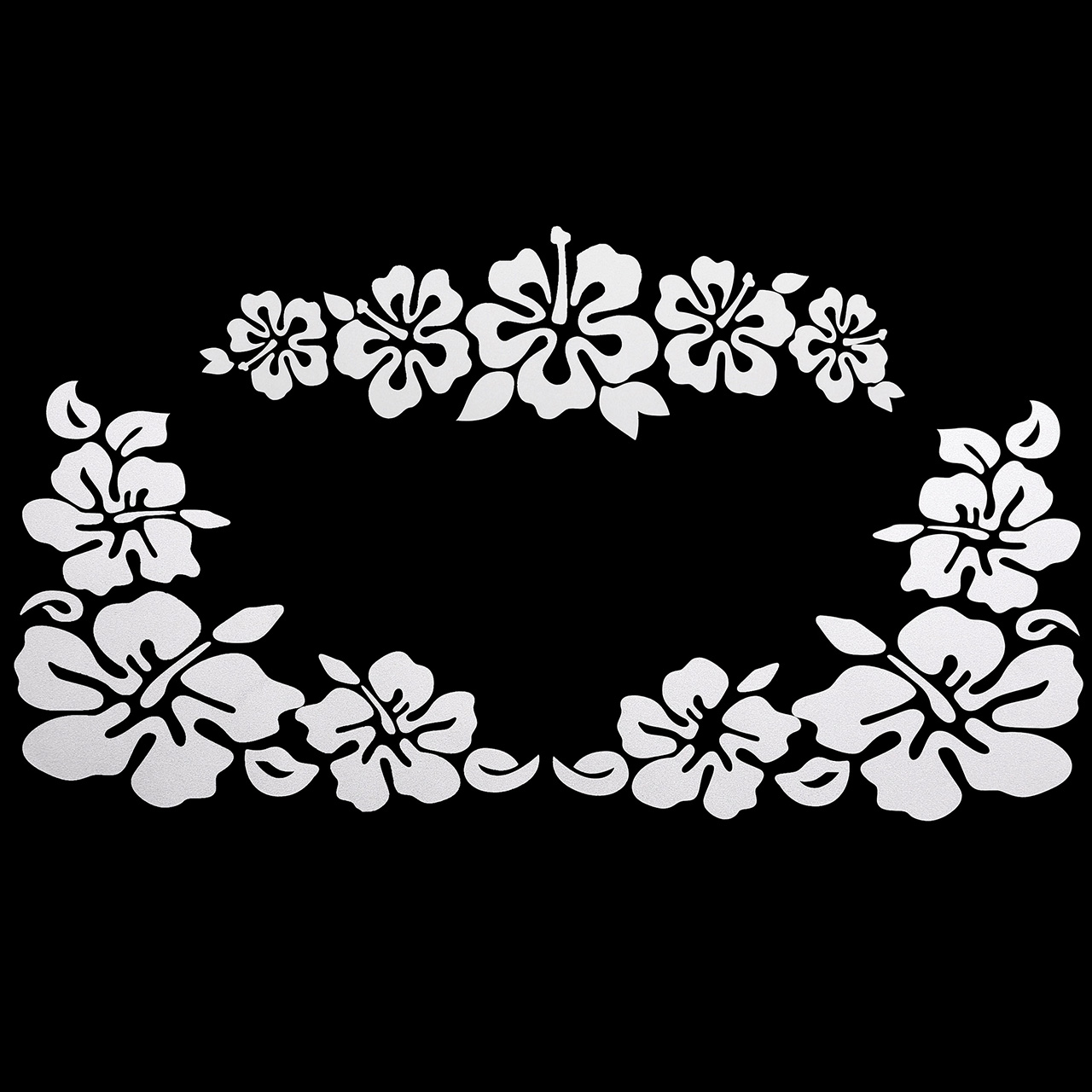 ACBungji Car Window Body Bumper Decal Sticker Scratch Cover Hibiscus Hawaiian Flower (White)